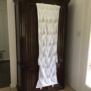 """42-pocket over the door organizer, 68.5""""H x 20""""W"""